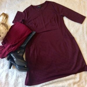 14 PLUS LANE BRYANT PULLOVER DRESS WITH POCKETS